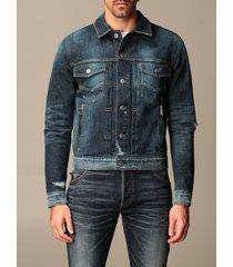 balmain jacket balmain denim jacket with zip