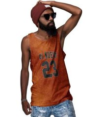 camiseta regata laranja ferrugem number 23 - masculino