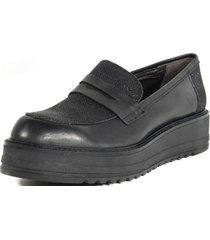 zapato mocasin clásico glitter mailea