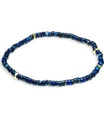 jean claude men's agate, lapis lazuli & turquoise randel stretch bracelet