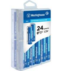 westinghouse aa dynamo alkaline 24pk in storage case