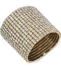 thalia sodi gold-tone rhinestone wide stretch bracelet, created for macy's