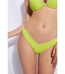 calzedonia high cut brazilian swimsuit bottom miami woman green size 4