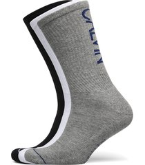 ck mens 3pk crew athleisure gavin underwear socks regular socks grå calvin klein