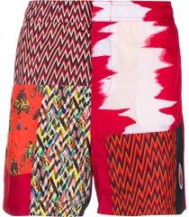 missoni mare patchwork swim shorts - red