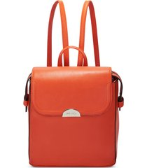 cartera nine west enchantra backpack - naranja