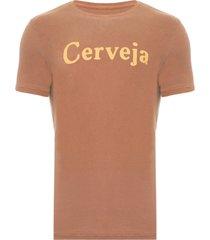 t-shirt masculina cerveja - marrom