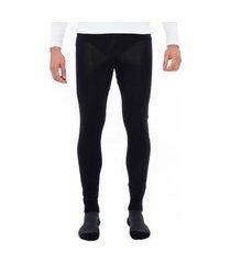 calça segunda pele térmica essential merino crew masculina solo preta