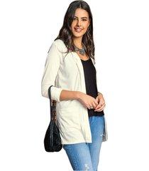 blazer adulto femenino marfil marketing  personal