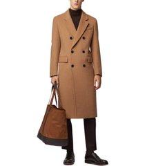 boss men's darvin5 slim-fit double-breasted long coat