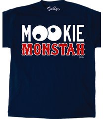 mookie monstah betts blue all ages male female  boston red sox vintage t-shirt