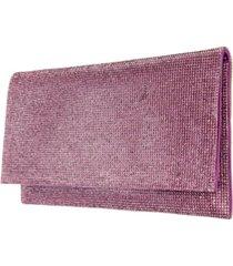 nina women's crystal embellished clutch