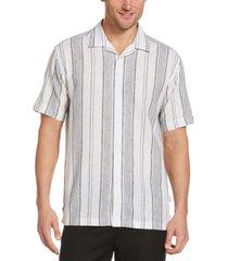 cubavera men's striped camp shirt