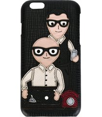 dolce & gabbana designers patch iphone 6 case - black