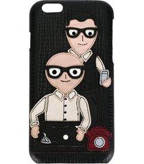dolce & gabbana designers patch iphone 6 case - black