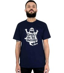 camiseta 182life ghost on the dancefloor marinho - azul/cinza - masculino - dafiti