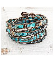 glass beaded wrap bracelet, 'traditional style' (guatemala)