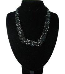 collar artesanal negro sasmon cl-12365
