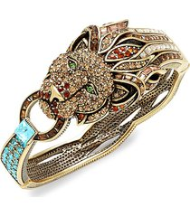heidi daus women's goldtone & crystal lion bracelet