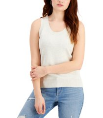 style & co cotton sweater-knit tank, created for macy's