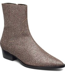 adiragz boots hs19 shoes boots ankle boots ankle boot - heel silver gestuz