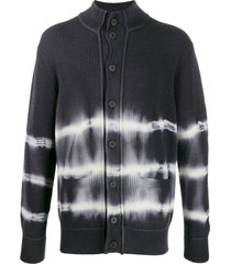 maison flaneur ribbed tie-dye cardigan - blue