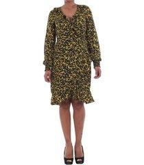 jurk vero moda 10198721 vmhenna fifi smock l/s short dress mango mojito/leise
