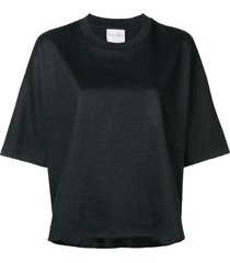 forte forte drop shoulder top - black