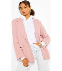 boxy oversized double breasted blazer, candy pink