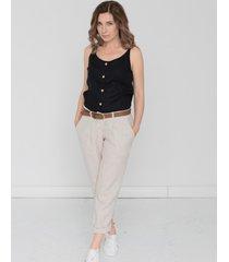 spodnie lniane natural