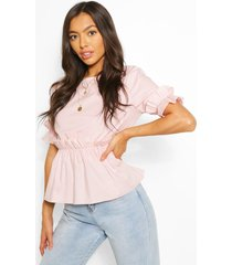 cotton frill top, light pink