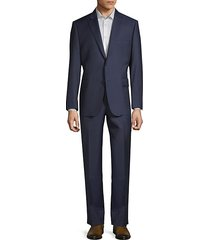 2-piece slim wool suit