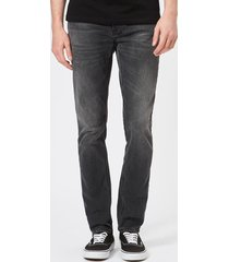 nudie jeans men's lean dean straight jeans - mono grey - w38/l32