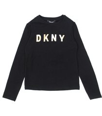 dkny black cotton jersey t-shirt
