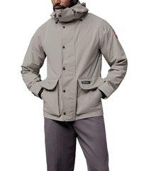 men's canada goose lockeport water resistant jacket, size large - grey