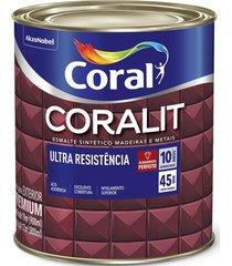 tinta coral esmalte coralit, alto brilho, tabaco, lata 0,9 litros