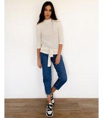 sweater blanco desiderata lace