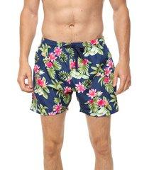 traje de baño azul chelsea market flores