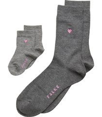 mini-me set lingerie hosiery socks grå falke women