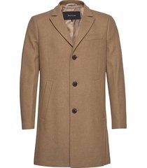 malto classic wool wollen jas lange jas bruin matinique