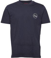 dauber t-shirts short-sleeved blå hugo
