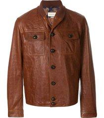 gucci shawl collar jacket - brown