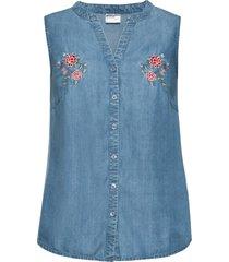 top di jeans in tencel™ lyocell (blu) - bodyflirt