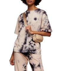women's topshop tie dye crop t-shirt