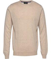 cool wool - iq stickad tröja m. rund krage beige sand