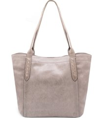 frye reed leather tote - purple