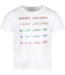little marc jacobs white girl t-shirt with colorful logos