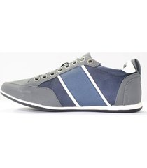 zapatilla versace italia 565-muryg gris/azul