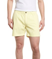 men's vintage 1946 snappers elastic waist 5.5 inch stretch shorts, size x-large - yellow