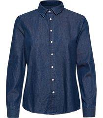 d1. luxury chambray långärmad skjorta blå gant
